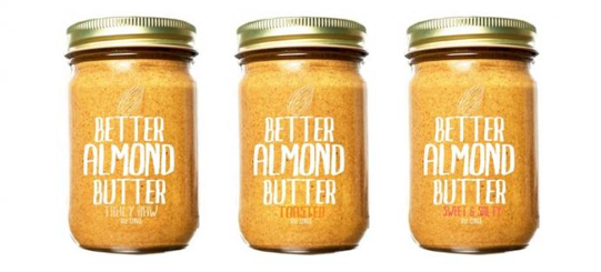 better than almond butter minimalist packaging